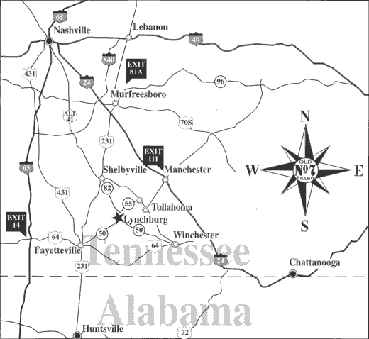 lynchburg-tn-map